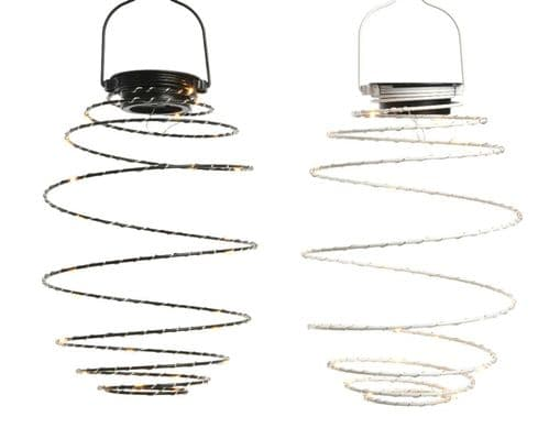 Lumineo LED Solar Metal Wire Warm White 25 Light - 16cm